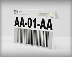Barcode Hanging Sign with Logo