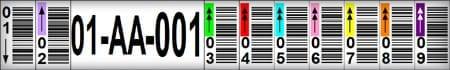Multi Split Rack Label