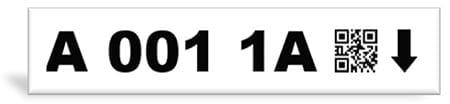 2D Rack Label