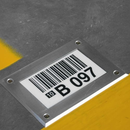 Metal Frame Floor Labels