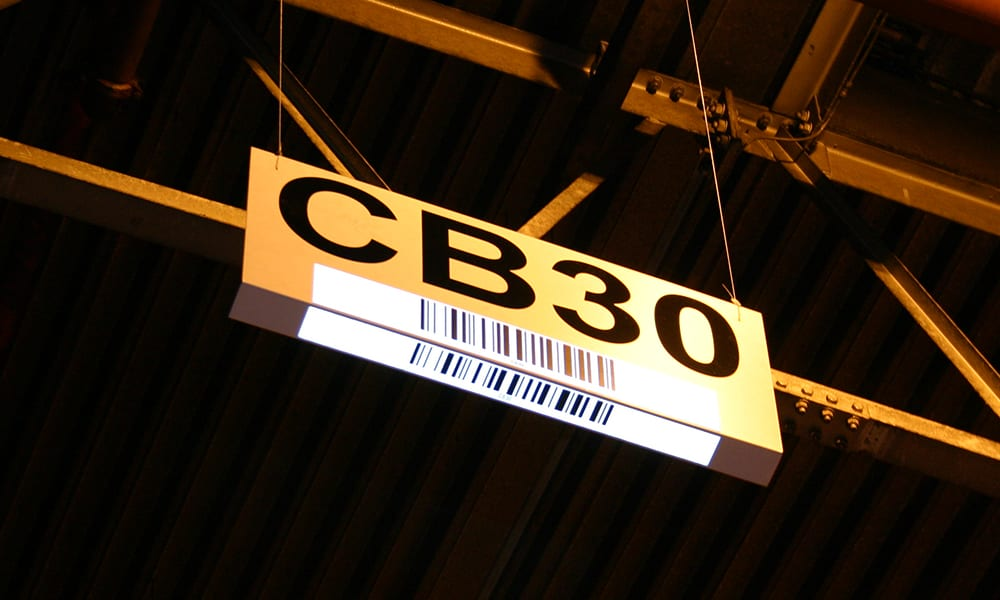 Barcode Sign with Light