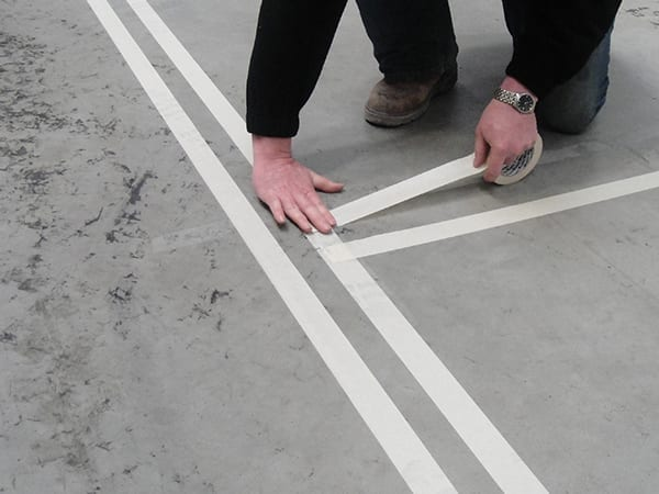 Floor Tape Installation