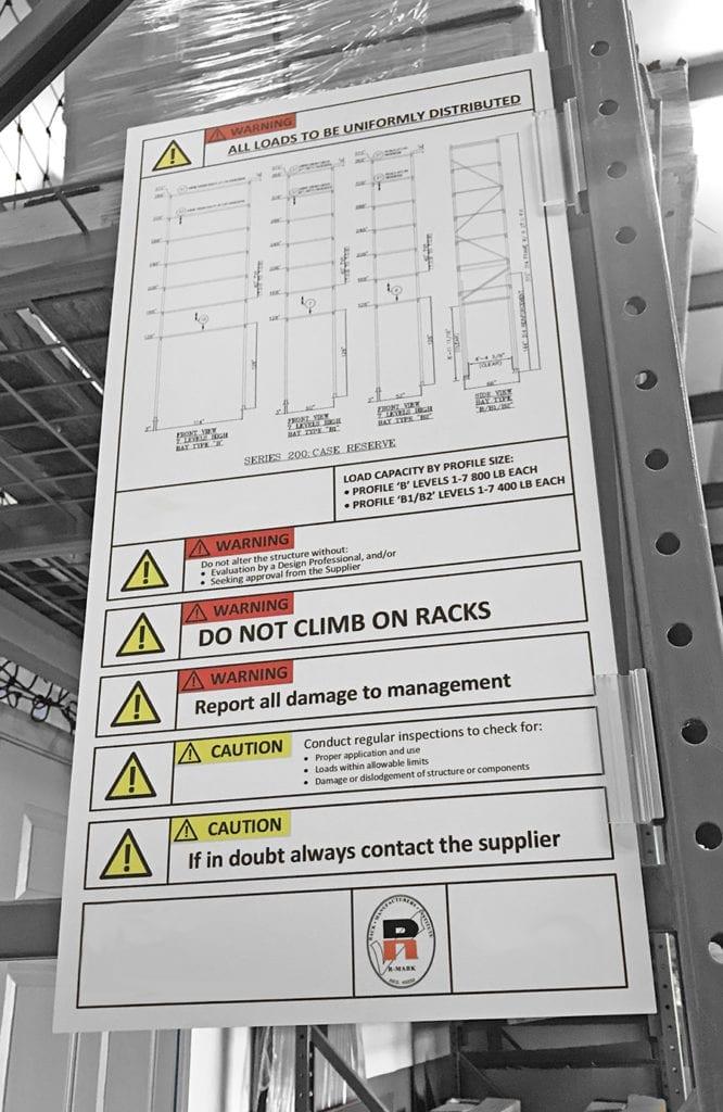Large Rack Load Sign