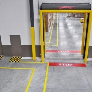 Line Striping Door Barrier