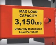 Max Load Label