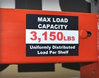 Rack Capacity Labels