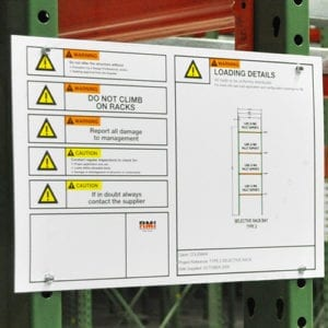 Rack Load Signs