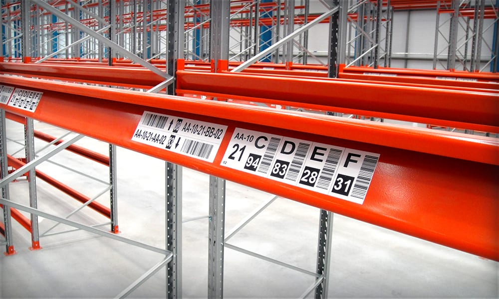 Warehouse Labels for Racking