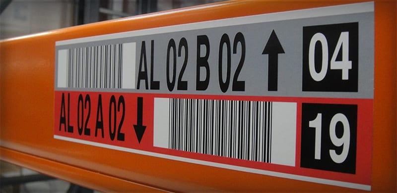 Split Base Rack Label