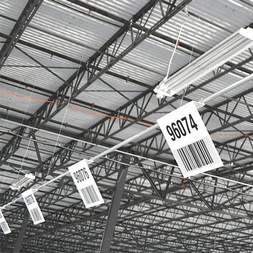 Warehouse Barcode Signs