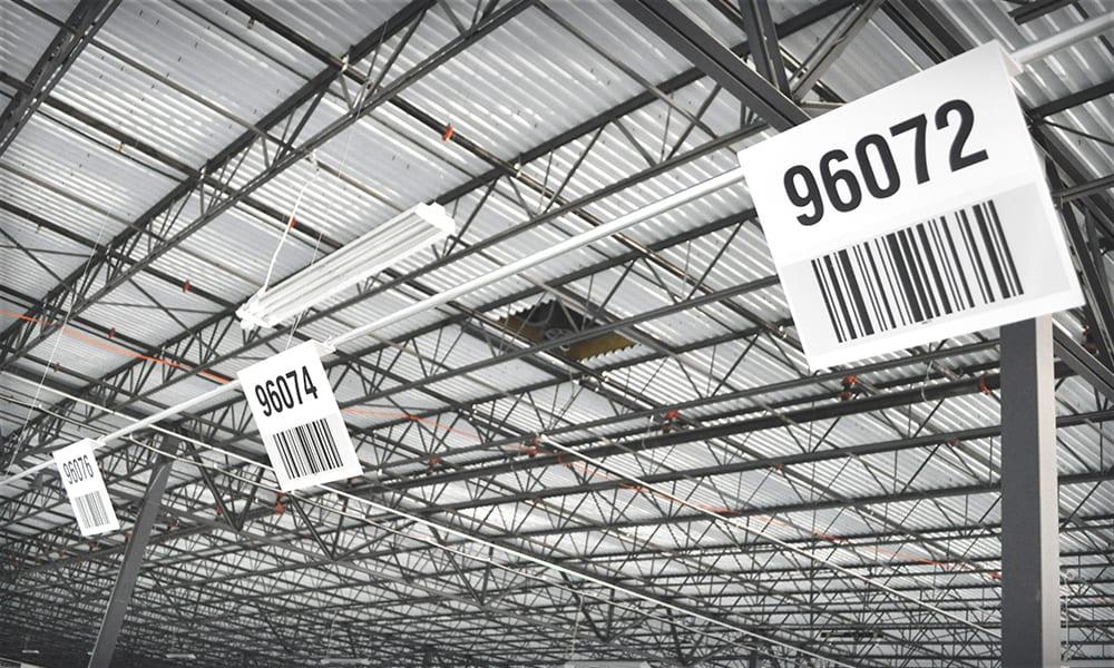 Warehouse Barcode Signs