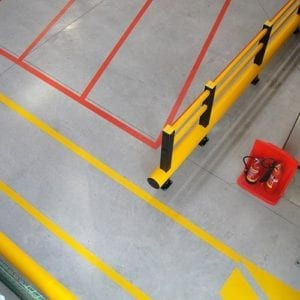 Warehouse Striping & Guardrail
