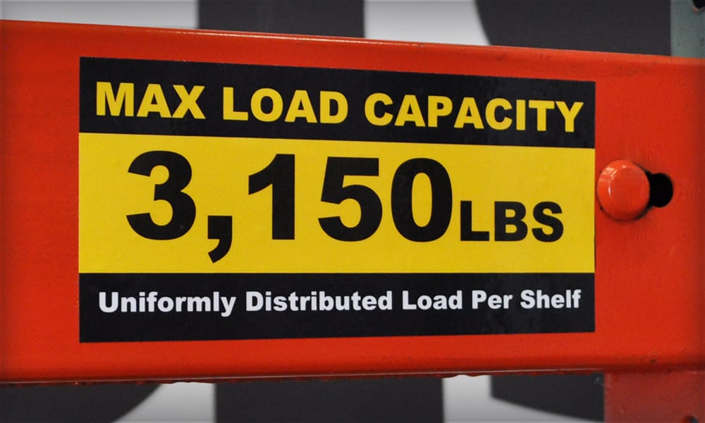 Weight Capacity Label