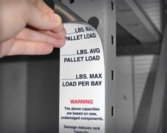 Magnetic Rack Load Labels