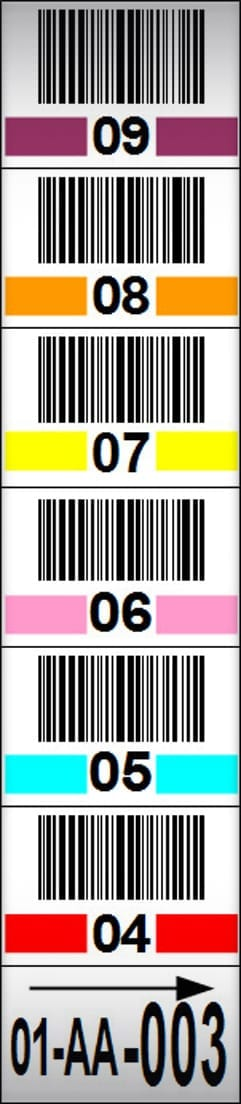 Multi Level Rack Frame Label