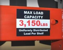 Rack Capacity Labels