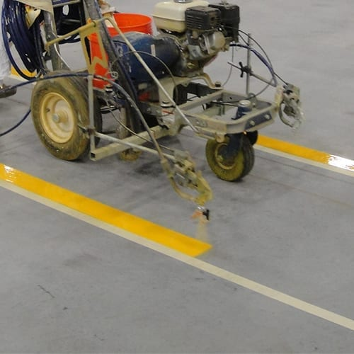 Epoxy Floor Striping
