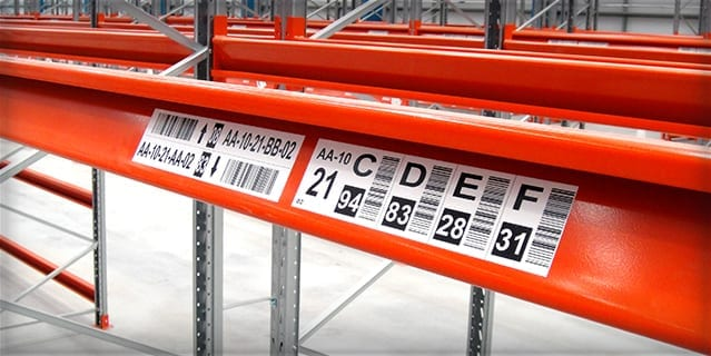 Rack Location Labels