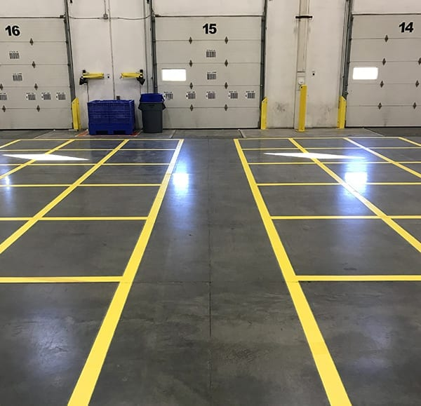 Shot Blast Floor Painted