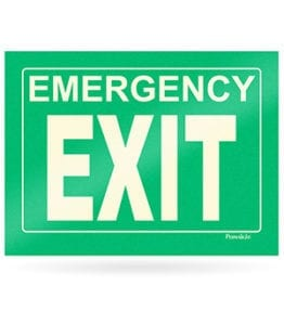 Green Emergency Exit