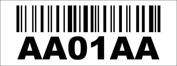 2.25x6 Linear Barcode