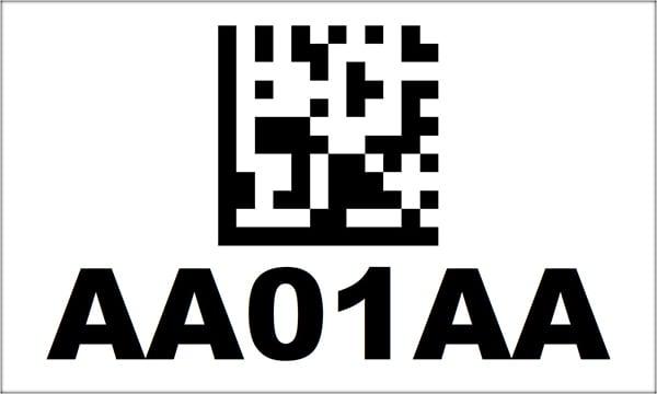 3x5 2D Barcode