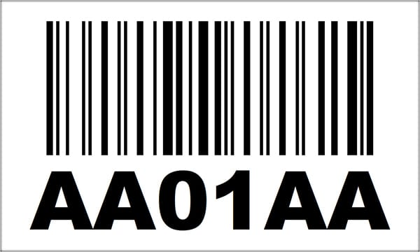 3x5 Linear Barcode