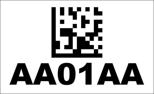4x6.5 2D Barcode