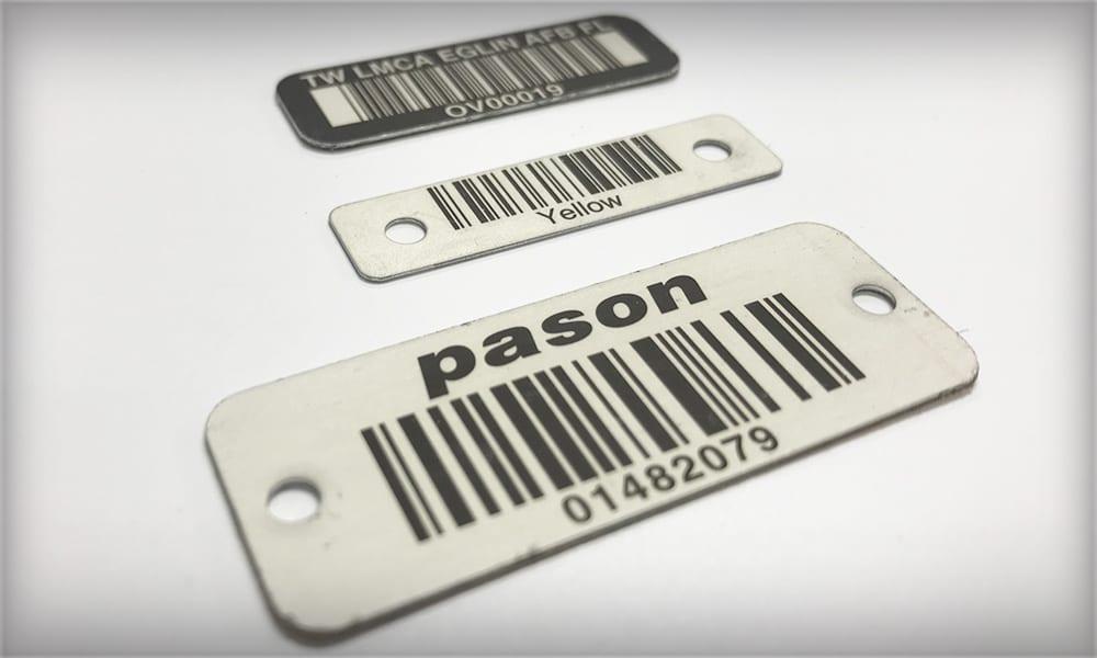 Durable Metal Barcodes