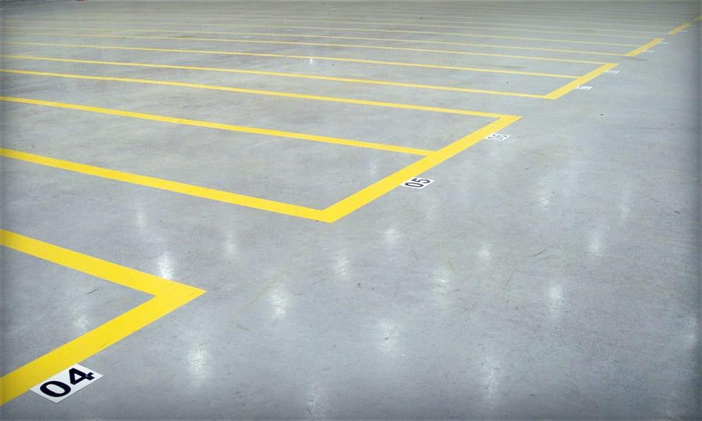 Floor Labels Installed