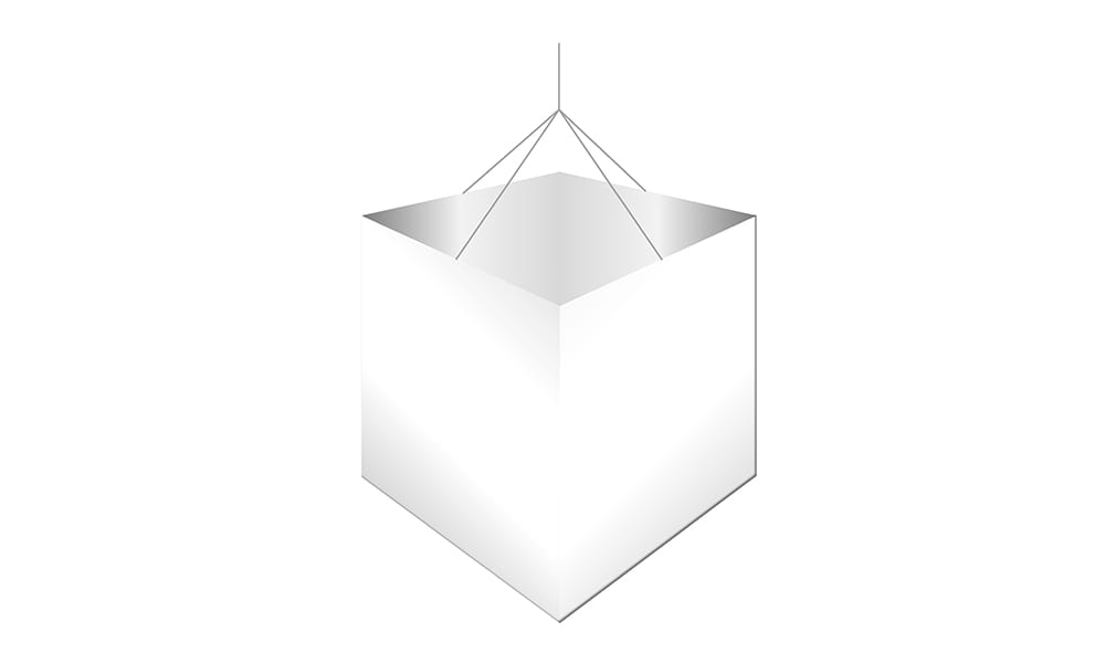 Hanging Cube Sign